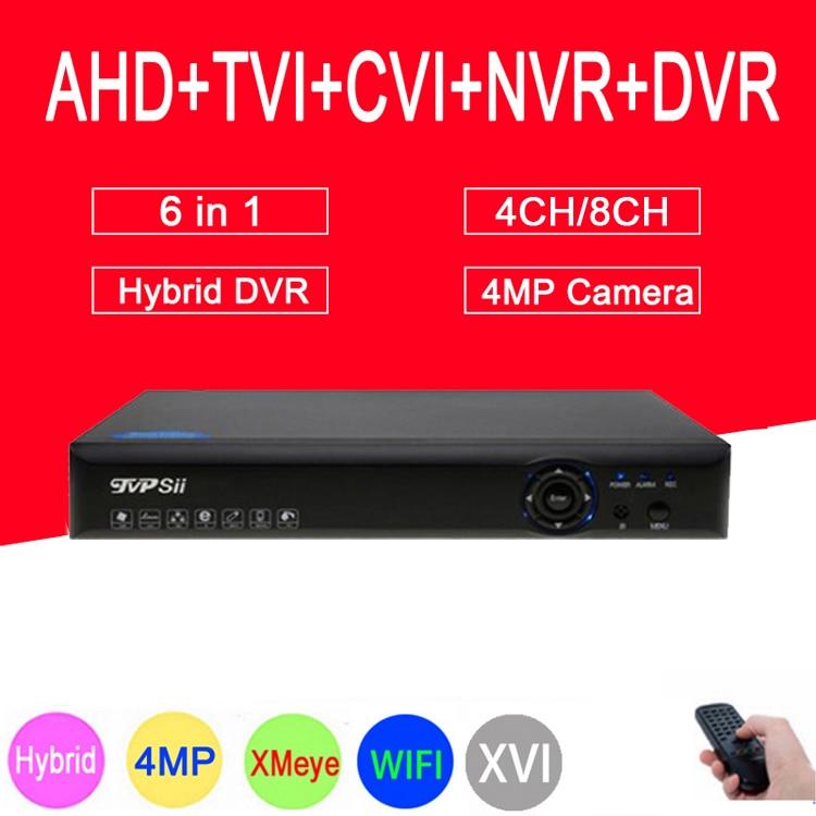 Blue-Ray XMeye Hi3531A H264+ 4MP 4CH/8CH 6 in 1 Hybrid Coaxial TVi CVI NVR AHD CCTV DVR Surveillance Video Recoder FreeshippingBlue-Ray XMeye Hi3531A H264+ 4MP 4CH/8CH 6 in 1 Hybrid Coaxial TVi CVI NVR AHD CCTV DVR Surveillance Video Recoder Freeshipping