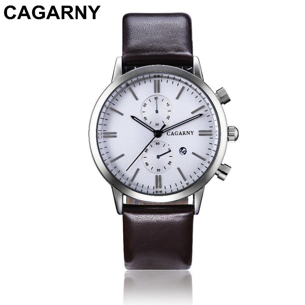 2018 Luxury Brand cagarny Men Sports Watches Men's Quartz Date Clock Man Casual Leather Fashion Wrist Watch Relogio Masculino 2019 drop shipping (2)