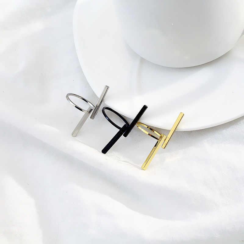 Nova venda quente senhoras OL moda simples uma palavra longa faixa forma de anel exagerada anel mulheres de Todos Os Jogo anel