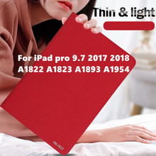 Smart Cover Case for Apple New iPad 9.7 2017 2018 iPad 5th 6th Generation A1822 A1823 A1893 A1954 Case For Apple Ipad pro 9.7 a1893 a1954 for ipad 9 7 2018 touch screen glass digitizer panel replacement for ipad 6 6th gen a1893 2018 version touchscreen
