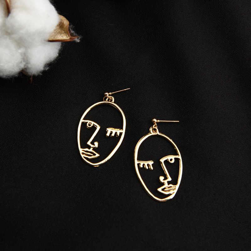 Orecchini gioielli coreano viso scavato orecchini viso ovale orecchini Orecchini Per Le Donne Oorbellen