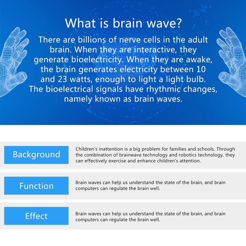 Jouets Éducatifs Pour enfants Cerveau D'ondes Radio Idée Contrôle Araignée BRICOLAGE Robot D'intelligence Jouets Ondes Cérébrales Detector1 + Jouet Araignée - 6