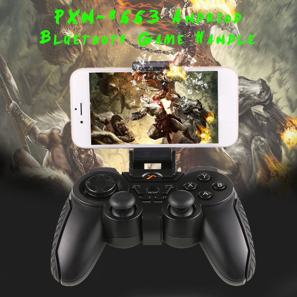 New Arrive PXN-8663 Android Wireless Bluetooth Gamepad Joystick Bluetooth Controller for IOS Android Smartphone Tablet PC