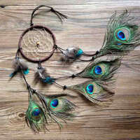 Top Grand New Fashion Gift Indian Peacock Dreamcatcher Wind Chimes Indian Style Feather Pendant Dream Catcher Gift