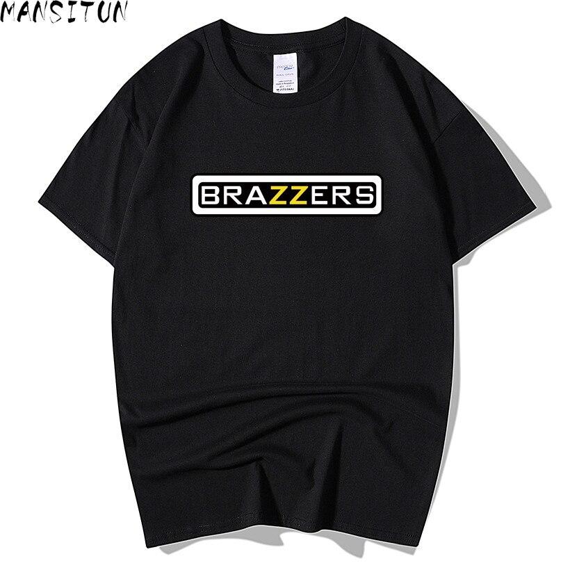Man Summer Casual   t     shirt   men Brazzers 3D Print tops funny Short sleeve   t  -  shirt   men Cotton tee   shirt   mens   t     shirts   fashion