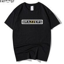 Man Summer Casual t shirt men Brazzers 3D Print tops funny S