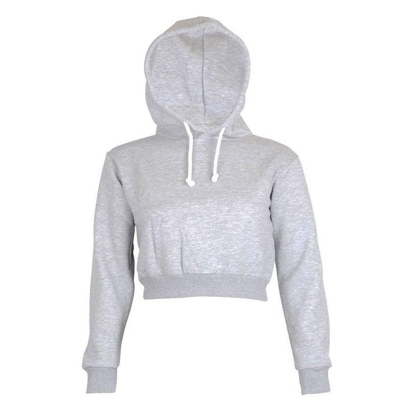3ae8d50da4a8b US $4.08 43% OFF|Fashion Women Sweatshirt 2018 Hot Sale Hoodies Solid Crop  Hoodie Long Sleeve Jumper Hooded Pullover Coat Casual Sweatshirt Top-in ...