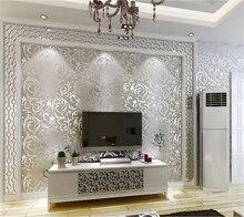 Купить с кэшбэком Beibehang European living room bedroom sofa TV background wallpaper bedroom KTV flash gold foil silver foil metal 3d wallpaper