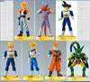 Anime Cartoon 7pcs Set Dragon Ball Z Son Goku Cell Son Gohan PVC Figures Model Toy