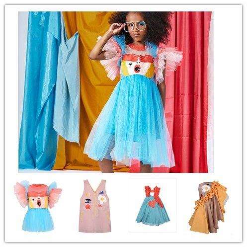 2019 INS HOT RASPBERRY PLUM KID DRESSES FASHION GIRLS PARTY DRESSES LUXURY DRESSES GIRLS PRINCESS DRESSES