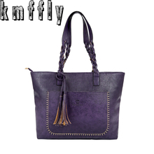 2017 Large Capacity Women Bags Shoulder Tote Bags bolsos New Women Messenger Bags With Tassel Famous Designers Leather Handbags