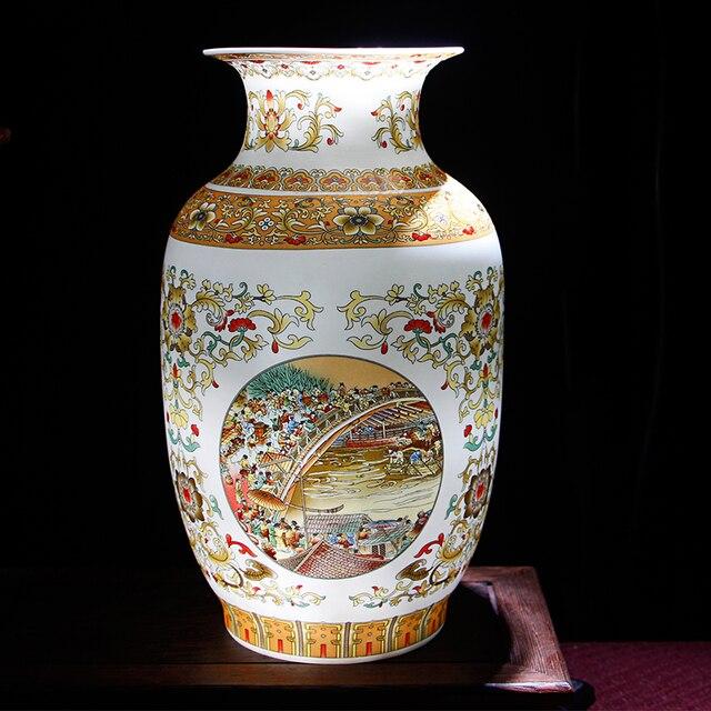 Керамическая ваза под старину Цзиндэчжэнь, китайские фарфоровые вазы
