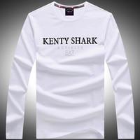 Brand Kenty Shark The New Round Neck Long Sleeve T Shirt Round Collar Men S Clothes