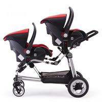Kds коляска для близнецов двойной передний и задний Складные принадлежности Европейский Детские коляски s двойная коляска с Автокресло