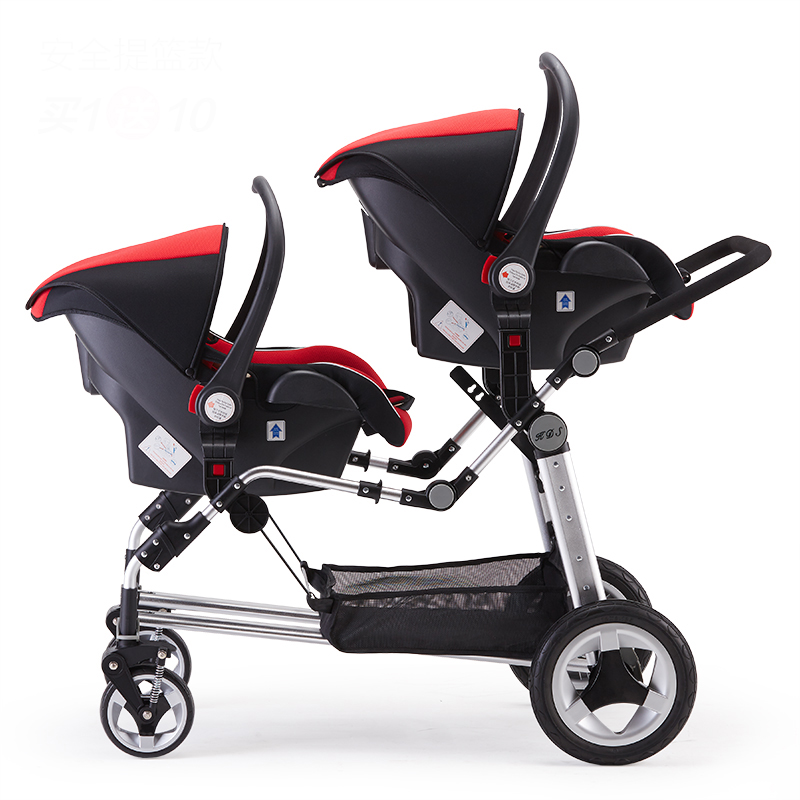 Kds Twins Baby Stroller Double Front And Rear Folding Accessories European Baby Strollers brand baby twins strollers babyruler twins baby stroller folding double stroller child baby stroller