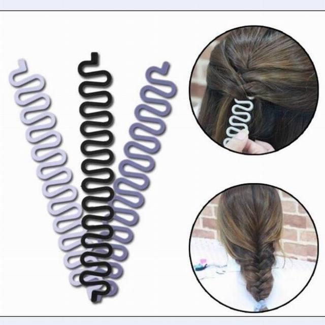 Moda DIY pelo herramienta que trenza francesa encaje trenzadora del pelo de modelado personal apoyos como mujeres dish moño labra la herramienta.