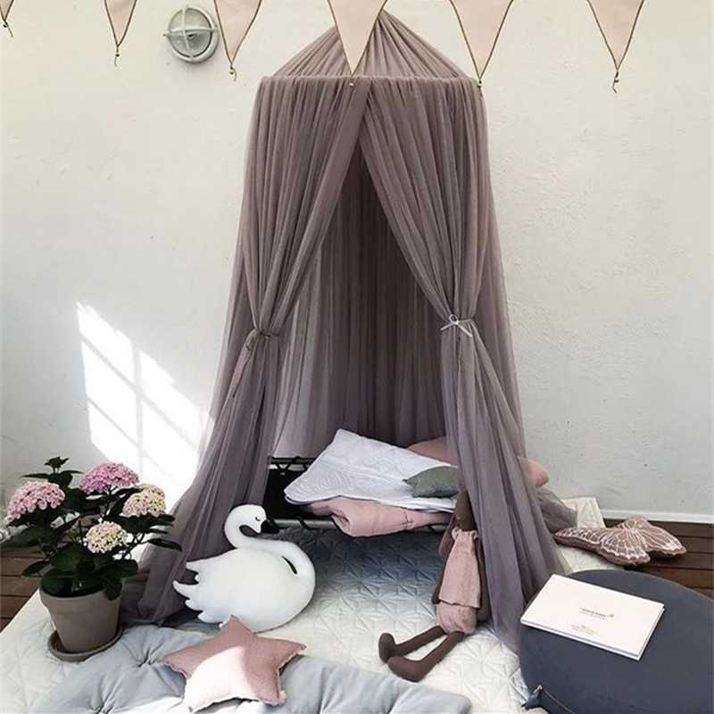 Baby Girl Decoration Surprise Room Decor Crib Canopy for Folt Upbed Bed Tent Camas Para Ninas Mosquito Net Kids Baby Curtuns