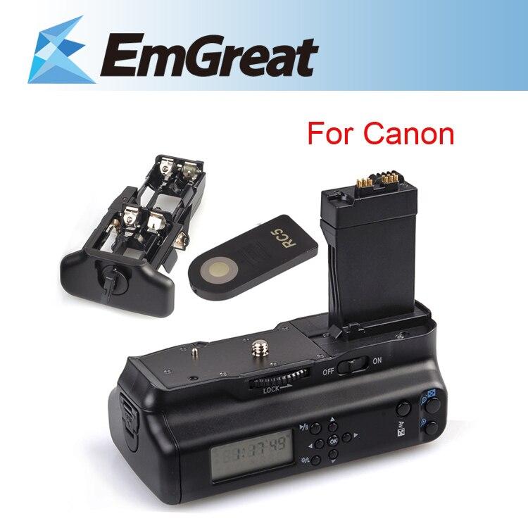 Оригинал майке ЖК-дисплей Батарейная ручка обновления держатель W/ИК-пульт для Canon EOS 550D 600D 650D 700D как LP-E8 B4K бесплатная доставка