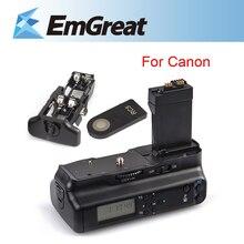 Original Paquete Battery Grip Holder Meike LCD w/IR Remoto para canon eos 550d 600d 650d 700d como lp-e8 b4k envío gratis