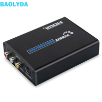 Baolyda HDMI to Composite 3 RCA AV +S Video R/L Audio Video Converter Adapter Scaler 720P 1080P Work with PS3 Xbox HDTV DVD TV