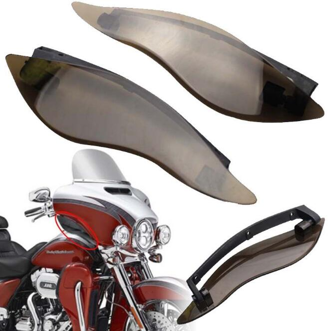 ФОТО Smoke Upper Outer Fairing Side Wings Air Deflectors For Harley Touring 2014-2016