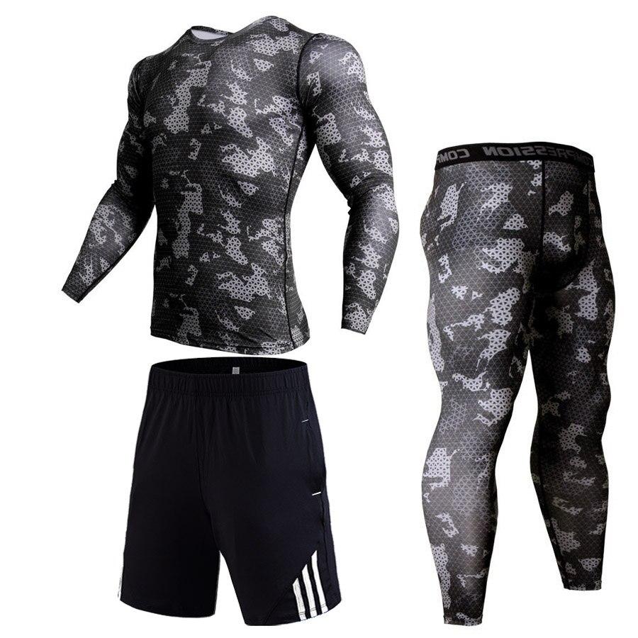 Leggings Workout-Set Rashgard Fitness Sport Track-Suit Compression-Pants Running-Shirt