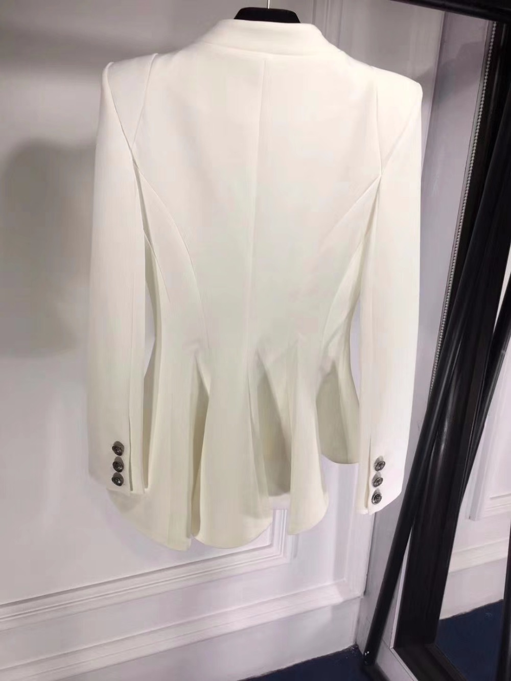 Chaqueta De Unique Mujer Femmes Élégant Mode Slim Para Balayage Chaquetas white Abrigo Costume Blazer Black Feminino Vague Blanc 2018 xHFn0w5q5