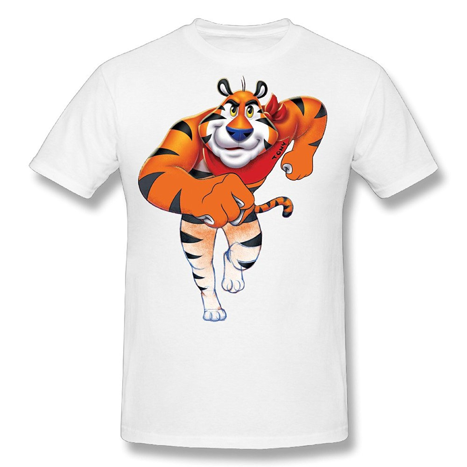 2017 New Arrival Funny Mens Tops Cool O Neck T-Shirt Flesiciate1 Male Runny Tony Tiger Design T Shirt