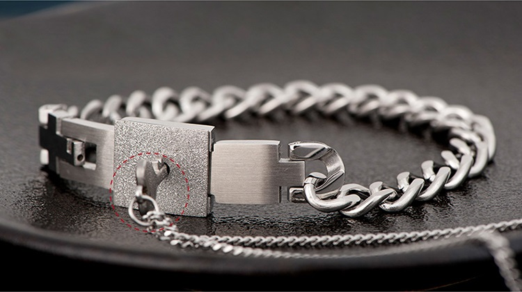 personalized love lock and key matching couples bracelets necklace