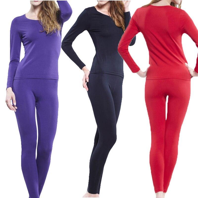XL-6XL Thermal Underwear Women Set 2018 Autumn Winter High Elastic Long Johns Modal Thin Slim Set