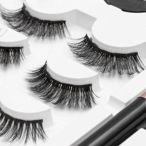 Image 5 - SEXYSHEEPขนตาปลอมEyeliner Eyelash Curler Set5แม่เหล็กธรรมชาติยาวขนตาปลอมแม่เหล็กอายไลเนอร์