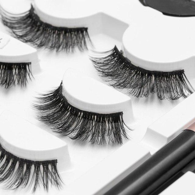 SEXYSHEEP Magnetic Eyelashes Eyeliner Eyelash Curler Set5 Magnet Natural Long Magnetic False Eyelashes With Magnetic Eyeliner 3