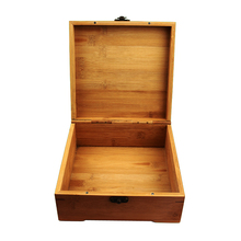 New Home Furnishing  Bamboo Storage Box Natural Wooden Packing box Craft Jewelry Case Wedding Gift ZSN-10