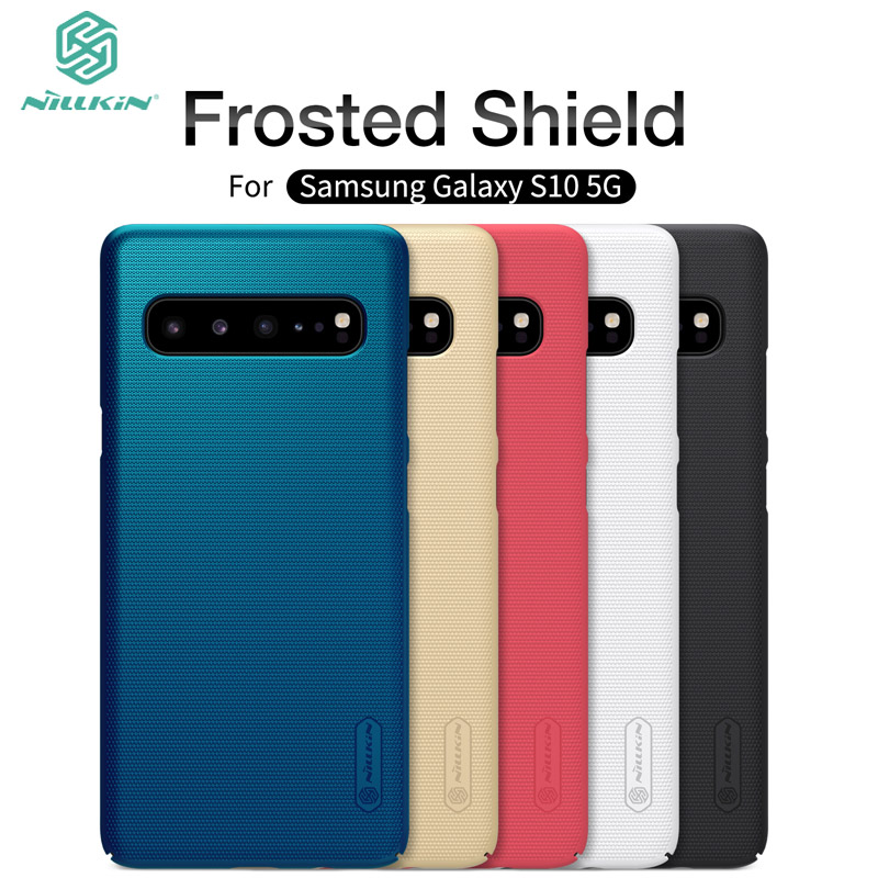 """Nilkin For Samsung Galaxy S10 5G 6.7"""" Case Cover Nillkin Frosted Shield Hard PC Back Phone Cover For Samsung Galaxy S10 5G"""
