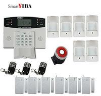 SmartYIBA GSM Alarm System Home Alarm Kit Quad Band Multi Function Infrared PIR Motion Alarm Door