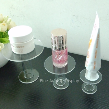 Clear acrylic products display stand round steps display for nail polish bottle small toys shopping show stand tool 5 tier desktop acrylic step display stand holder for small toys