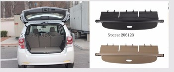 Car Rear Trunk Security Shield Shade Cargo Cover For  Toyota verso EZ 2009 2010 2011 2012 2013 2014 2015 (Black, beige)