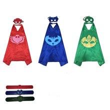 BoBo choses Gekko Manteau Masques Halloween Pjmasks Enfants Super-Héros Cape Masques D'anniversaire Partie Dress Up Costumes Masques 300 set = 900 ps