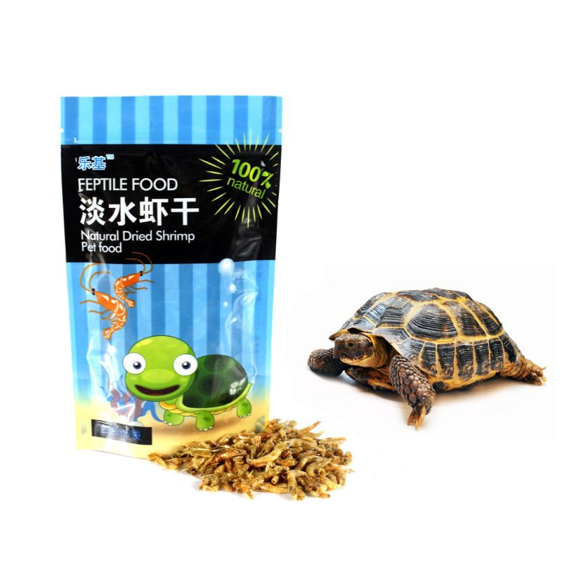 250ml/bag Shrimp Dry Feed Water Turtle Brazilian Tortoise Turtles Food Calcium Supplement Fish Tank Freshwater Dried Shrimps image