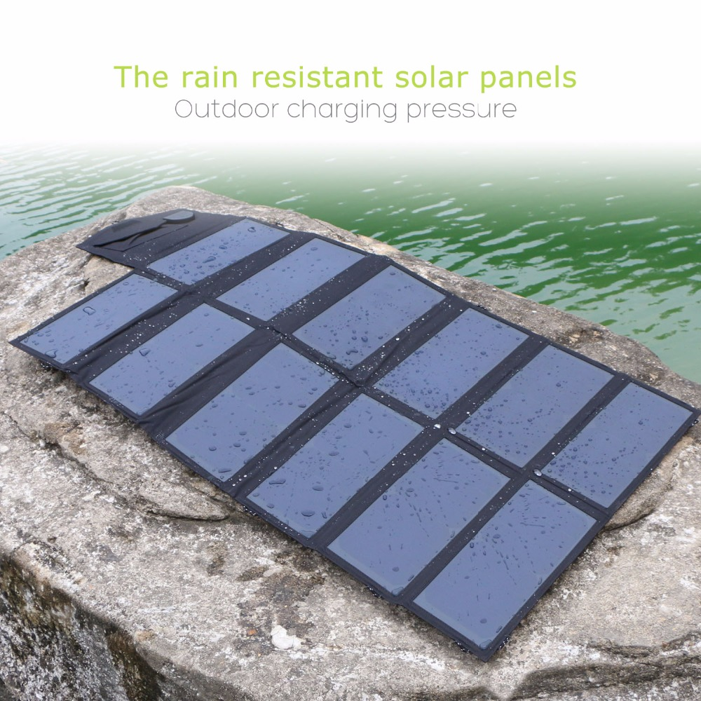 80W Portable Solar Panel Charger Foldable Solar Cells Charger Charge for iPhone iPad Macbook Samsung Car