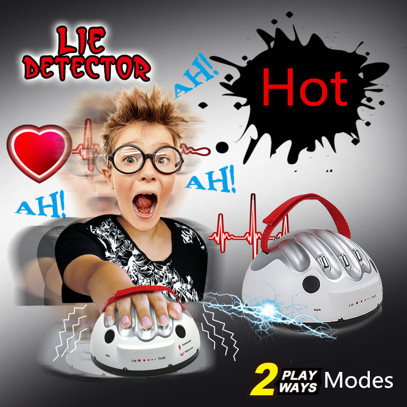 2 modes Polygraph Funny Adjustable Adult Polygraph Test Electric Shock Lie Detector Shocking Liar truth or Dare Game consoles