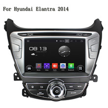 2 Din Android 5.1.1 Quad-Core Car Audio GPS Navigator Autoradio Motorized Detachable Automotivo Car DVD Player For Elantra 2014