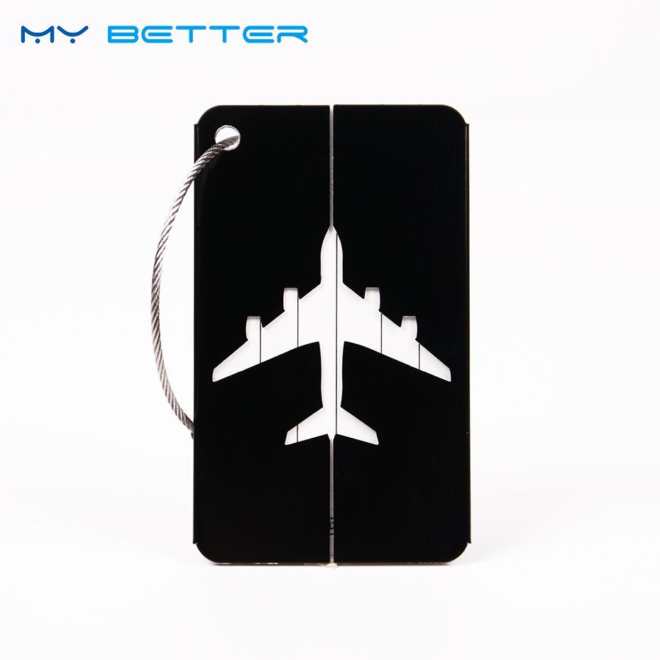 2PCS Luggage Bags Accessories Cute Novelty Aluminium Funky Travel Luggage Label Straps Suitcase Address Luggage Tags