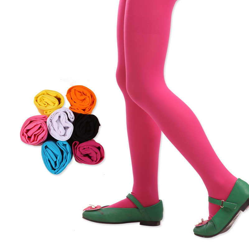 Candy สีฤดูใบไม้ผลิ/ฤดูใบไม้ร่วงเด็ก Tights สำหรับทารกเด็กหญิงน่ารักยืดหยุ่น Pantyhose Tights ถุงน่องสำหรับสาวเต้นรำ Tights