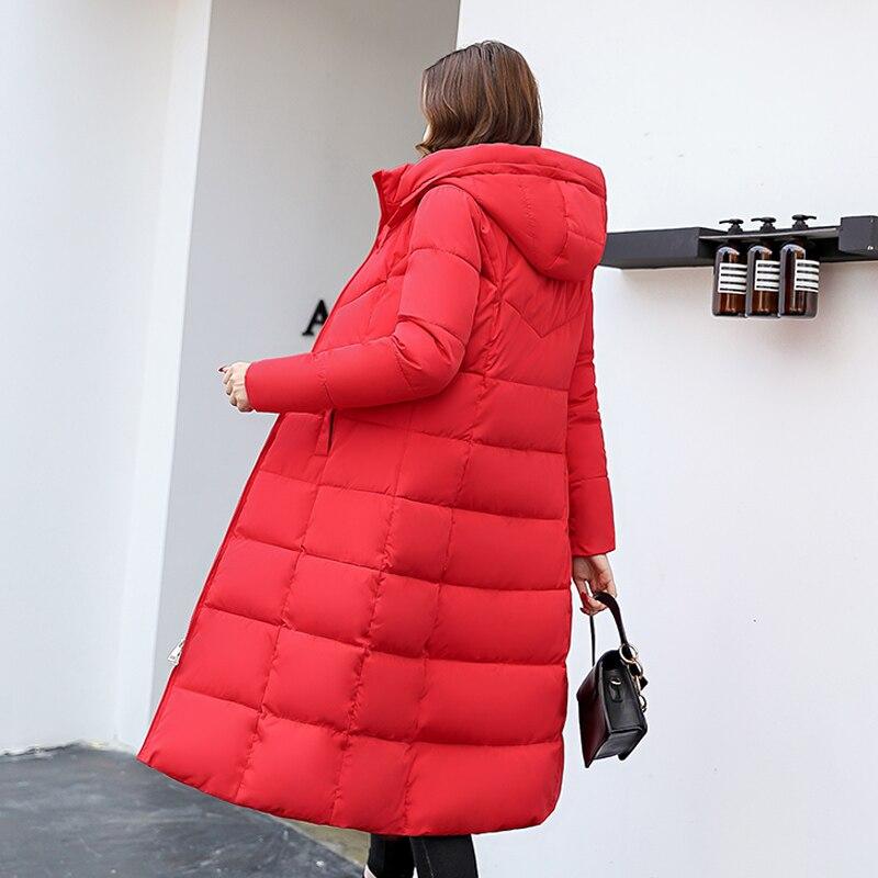 Plus Noir Mince Taille Nouvelle Coton Manteau Épaississement Veste Survêtement La Green Parka rouge gris Hiver Femelle blanc Chaud Capuchon À 2019 Longue army Dames Femmes xq0wEHCn
