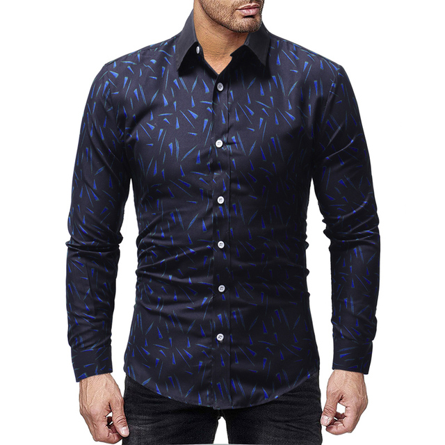 c536962b117 Best Selling 2019 Spring New Men Shirt Fashion Print Camisa Masculina Men s  Casual Comfortable Long-sleeved Hawaiian Shirt