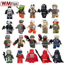 Single Legoings Star Wars Figures Darth Vader Rebel Troopers First Order Pilot Guard Starwars Building Blocks Toys for Children(China)