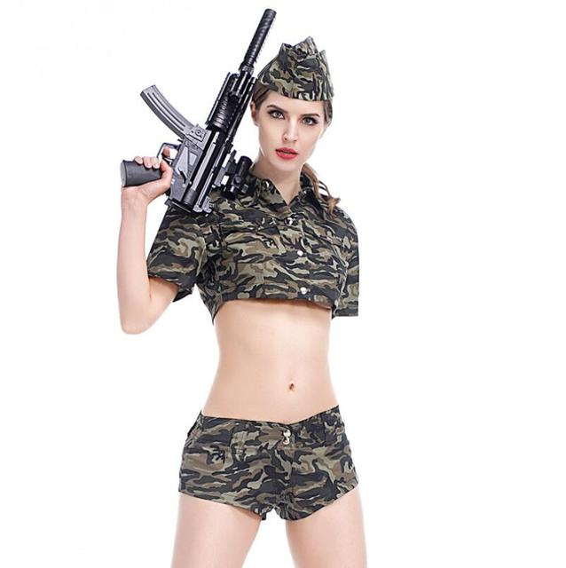 Carnavalskleding Leger Dames.Nieuwe Merk Vrouwen Soldaat Kostuums Sexy Camouflage Leger Kostuums