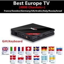 Европа iptv поле H96 Pro + 3 ГБ/32 ГБ S912 Android 6.0 TV Box HD Smart TV Box + 1 год 5000 + Франция Италия арабский Швеции Великобритании xxx IPTV Бесплатная