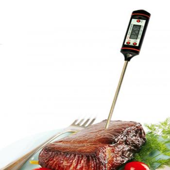 1Pc House Convenient Digital Food Thermometer,Probe Meat Kitchen BBQ Selectable Sensor Cooking Thermometer Drop Shipping 1